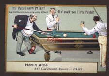HENIN AINE POOL TABLE BILLIARDS ADVERTISING POSTCARD COPY PARIS FRANCE PLAYERS