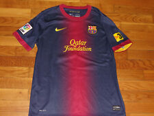 NIKE DRI-FIT FC BARCELONA LIONEL MESSI SHORT SLEEVE SOCCER JERSEY BOYS XL EXC.