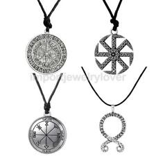 4Pcs Amulet Norse Viking Odin's Symbol Of Odin Necklace Rune Compass Pendant
