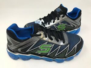 NEW! Skechers Youth Boy's TURBO DRIVE Shoes Blu/Gry/Lime #97421L 172P az