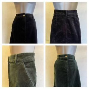 M&Co Ladies Cord Skirt in Black or Green Sizes 8-18 RRP £22.99 Brand New