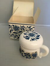 Vintage Avon Delft Blue Skin So Soft Skin Conditioner, New Nib