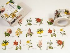 30 mm x 10 m / Gartenblumen / Masking Washi Tape