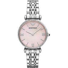 Emporio Armani Ar1779 Ladies Pink Gianni T-bar Watch