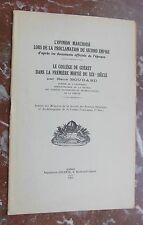 CREUSE René BOUDARD l'opinion Marchoise lors de la proclamation du Second Empire
