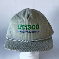 Vintage UCISCO Corduroy Snapback Hat Baseball TV / MOVIE PROP
