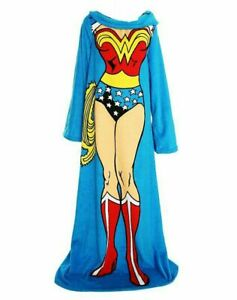 DC Comics Wonder Woman Comfortable Adult Comfy Blanket w/ Sleeves 48'' x 71''