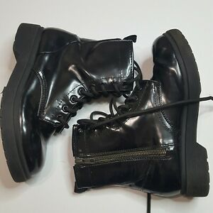 Mossimo Supply Co. Black Combat Style Boots Women's Size 7