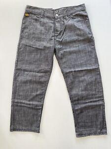 G-STAR Original Raw Denim Jeans Mens Size W36 L21 Dark Grey Wash