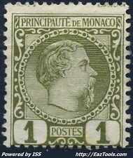MONACO PRINCE CHARLES III N° 1 NEUF SANS GOMME (BL)