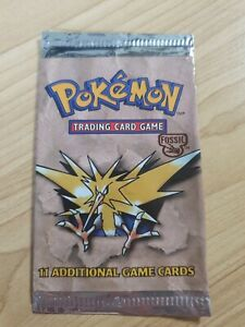 EMPTY Zapdos Fossil Booster Pack