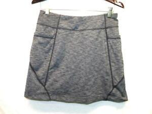 Athleta M Gray Excursion Skort Skirt Shorts A Line Above Knee Pockets Stretch Md