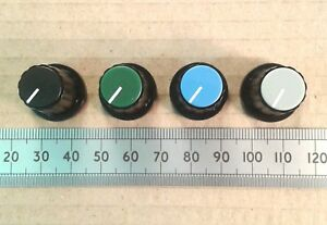 """19mm Plastic Control Knob for 0.25"""" 6.4mm D-Shaft, Movable Pointer Caps CPAA19"""