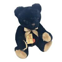 Hermann Original Black Teddy Bear Red Tag West Germany Sweet Teddys Vintage