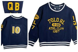 Boys Ex Ralph Lauren Polo Loop backed sweatshirt long sleeved top  2 3 4 6 8 10
