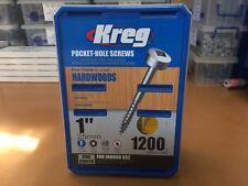 "Kreg Pocket Hole Screws - 1"", #6 Fine, Pan-Head, Box 1200"