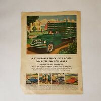 Vintage Studebaker 2-Ton Truck 1952 Print Advertising Automobile Magazine Ad