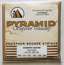 Pyramid Phosphor Bronze Acoustic Guitar Strings gauges 10-47