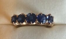 Secondhand Bargain.. 18 Carat Yellow Gold 5 Sapphire Eternity Ring