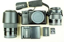 Sony Alpha A6000  24.3 MP Mirrorless Camera W/ 18-55mm & 55-210mm Lenses & MORE!