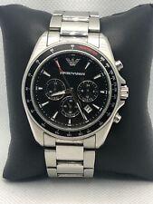 Emporio Armani AR6098 Men's Stainless Steel Analog Black Dial Quartz Watch KS373