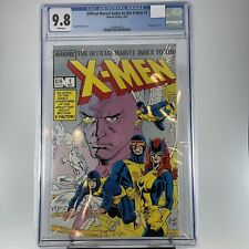 The Official Marvel Index to the X-Men #1 CGC 9.8 ❄️White Pages❄️ (1987)