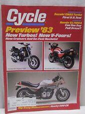 Vintage Cycle Magazine December 1982 Motorcycle Suzuki XN85 Turbo Honda GL1100A