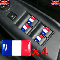 x4 France Flag 3D TRICOLORE Stickers Logo Citroen DS3 Renault Clio Peugeot 308