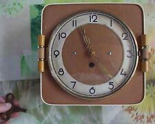 Ancienne Pendule Mécanique 1950 à clé Bon état de fonctionnement Vintage
