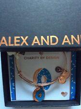 Alex and Ani Donut Bangle Bracelet Shiny Rose Tag Box Card