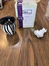 Scentsy Zebra Black & White Plug In Warmer. Used In Box W/Bulb