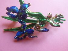 lovely iris brooch beautiful deep blue a smaller brooch