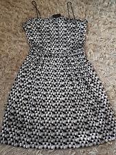 New Women's Zara SHIMMERY DRESS WITH THIN STRAPS Size M Silver,Black