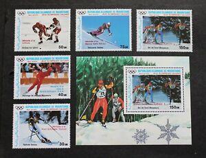 MAURITANIA - 1987 SCARCE WINTER OLYMPICS AIRMAIL FULL SET + S/SHEET MINT SET RR