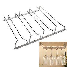 Pack of 4 Row Stemware Glass Under Cabinet Shelf Wine Storage Rack Holder Hanger