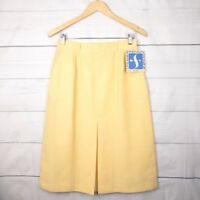New Sportscraft Skirt Vintage 14 (Modern 8 S) A-Line Pleated Midi Yellow A227