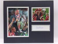 RARE Sir Alex Ferguson Manchester United Signed Photo Display + COA AUTOGRAPH