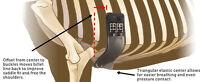 """NEW Total Saddle Fit StretchTec Shoulder Relief Dressage Girth - Black - 18"""""""