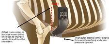 """NEW Total Saddle Fit StretchTec Shoulder Relief Dressage Girth - Black - 26"""""""