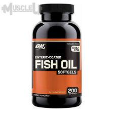 Optimum Nutrition Fish Oil - 200 Softgel Capsules - DHA EPA Omega-3