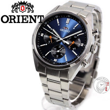 ORIENT Watch WV0021UZ Standard Neo 70's PANDA Quartz Navy Crystal Glass Japan
