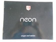 Chrysler Neon Coupe & Sedan brochure 1995 USA market