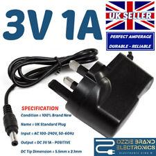 More details for 3v, 5v, 6v, 9v, 12v 1a 1000ma ac/dc charger power supply adapter mains plug uk