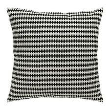"""STOCKHOLM Ikea COVER & DUCK FEATHER INSERT Black White Soft Cotton Velvet 20X20"""""""