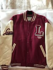 Levi Strauss Vintage Baseball Varsity Style Bomber Jacket. Wool mix/ leather.