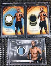 """2018 Topps UFC/Knockout ~ ANDERSON SILVA (#/50) & (#/99) """"TIER ONE"""" RELIC LOT!!!"""