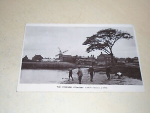 EARLY 1915 REAL PHOTO PC - THE RIVERSIDE, STOKESBY, NORFOLK BROADS, NORFOLK