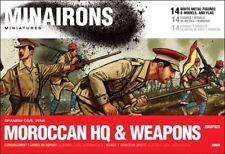 Minairons 1:72 Moroccan Regulars HQ & weapons - 20mm Spanish Civil War
