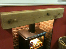 "6""x4""x48"" SOLID OAK BEAM- INGLENOOK FIREPLACE- SHELF- SQUARE PEGS- STOVES"