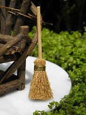 Miniature Dollhouse Fairy Garden Accessories ~ Rustic Straw Broom ~ New